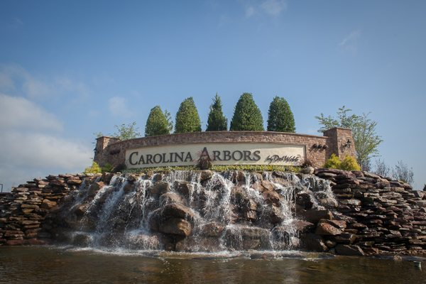 Water Feature and Signage for Carolina Arbors