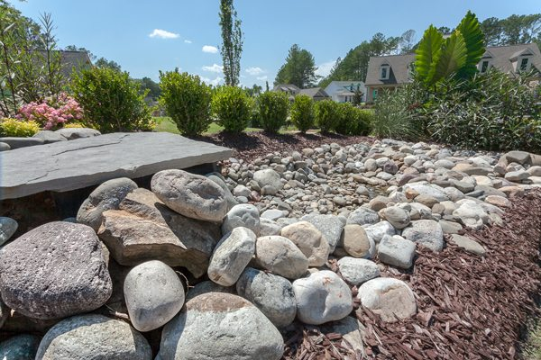 Stone Hardscape Design Landscaping Raleigh