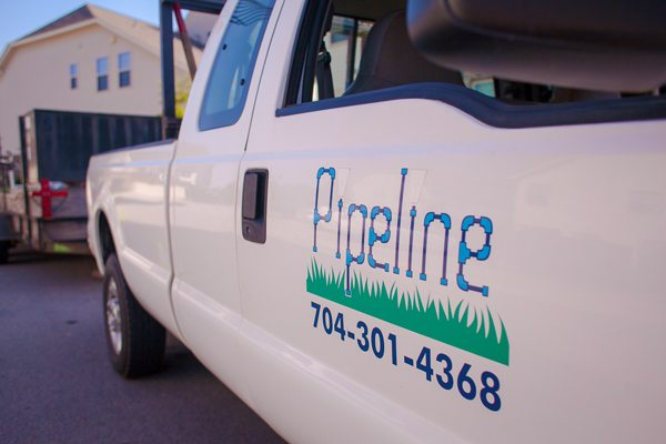 Pipeline Work Truck Landscaping Raleigh