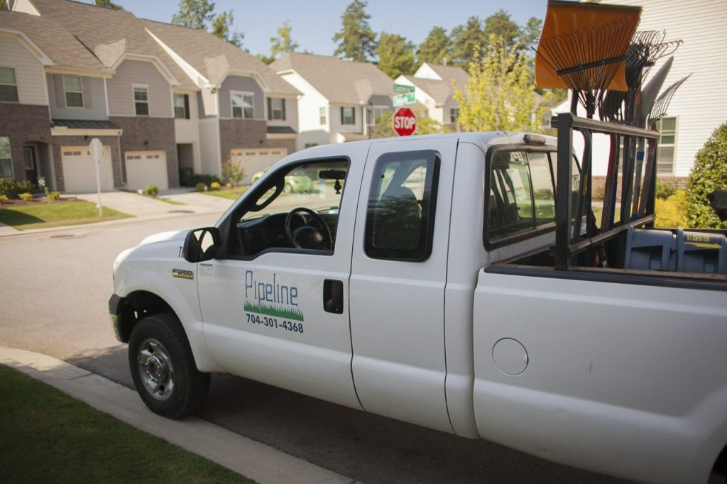 Pipeline Work Truck and Lawn Care